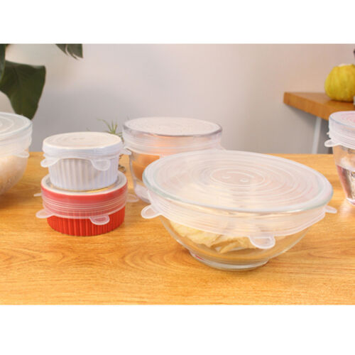 12pcs//set Silicone Stretch Pot Lid Food Save Sealed Bowl Cover Reusable