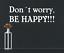 Indexbild 2 - X3354 Wandtattoo Spruch Don´t worry, be happy Sticker Wandaufkleber Aufkleber