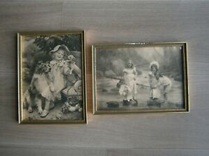 FRAME-DECO-PHOTOENGRAVING-ENFANTS-00-St-CHROMOS-DECORATION-FILLETTE-COSTUME