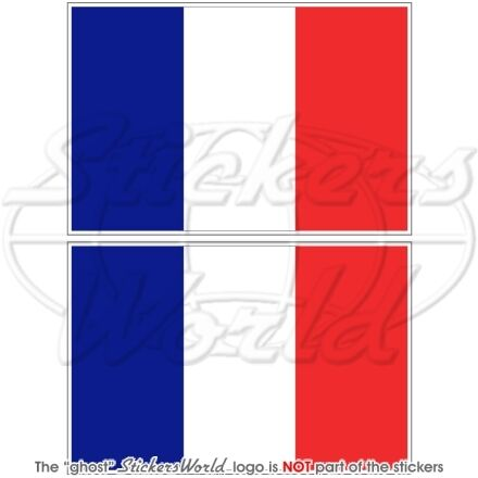 FRANCE Drapeau FRANÇAIS Vinyle Stickers Autocollant 75mm x2