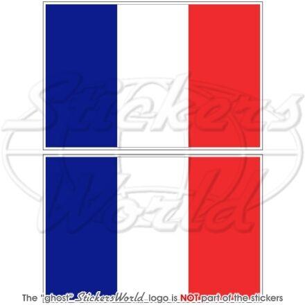 FRANCE Drapeau FRANÇAIS Vinyle Stickers Autocollant 75mm x2