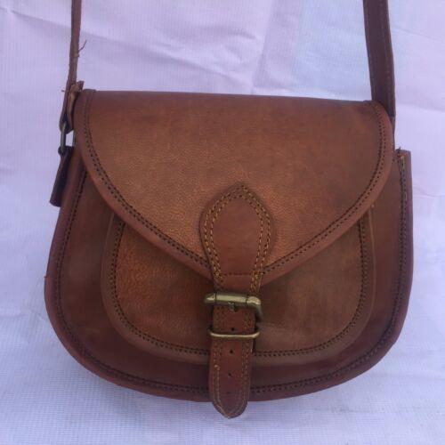 Nouveau femmes vintage en cuir marron Messenger Cross Body Bag Handmade Purse