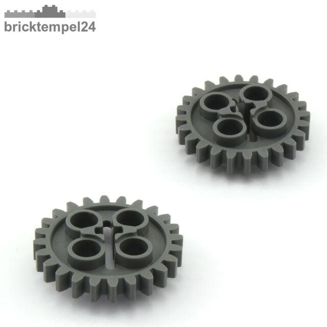 2x Lego Technik Zahnrad 24 Zähne 3648 dunkelgrau 24505 Technic 4514558 6133119