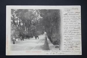 Tarjeta-Postal-Antigua-CPA-Animada-Mende-Camino-Piencourt