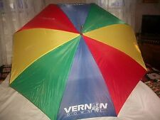 VINTAGE 1990'S UMBRELLA Vernon Downs NY Horse Harness Racing GIVEWAY PROMOTION