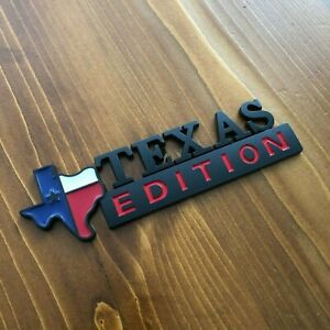 New-Texas-Edition-Black-Tailgate-Emblem-Badge-Chevy-GMC-Ford-F-150-250-350