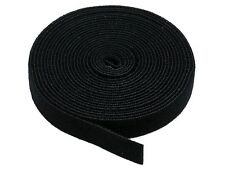 Fastening Tape 0.75-inch Hook & Loop Fastening Tape 5 yard/roll - Black