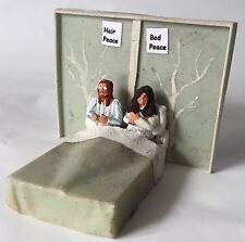 John Lennon & Yoko Ono Bed-In Metal Figure Set - The Beatles Memorabilia. Peace
