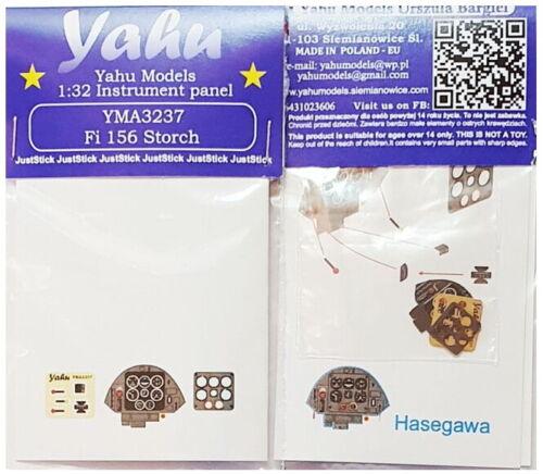 Yahu 1//32 Fieseler Fi-156 Storch Instrument Panel for Hasegawa//Revell kits