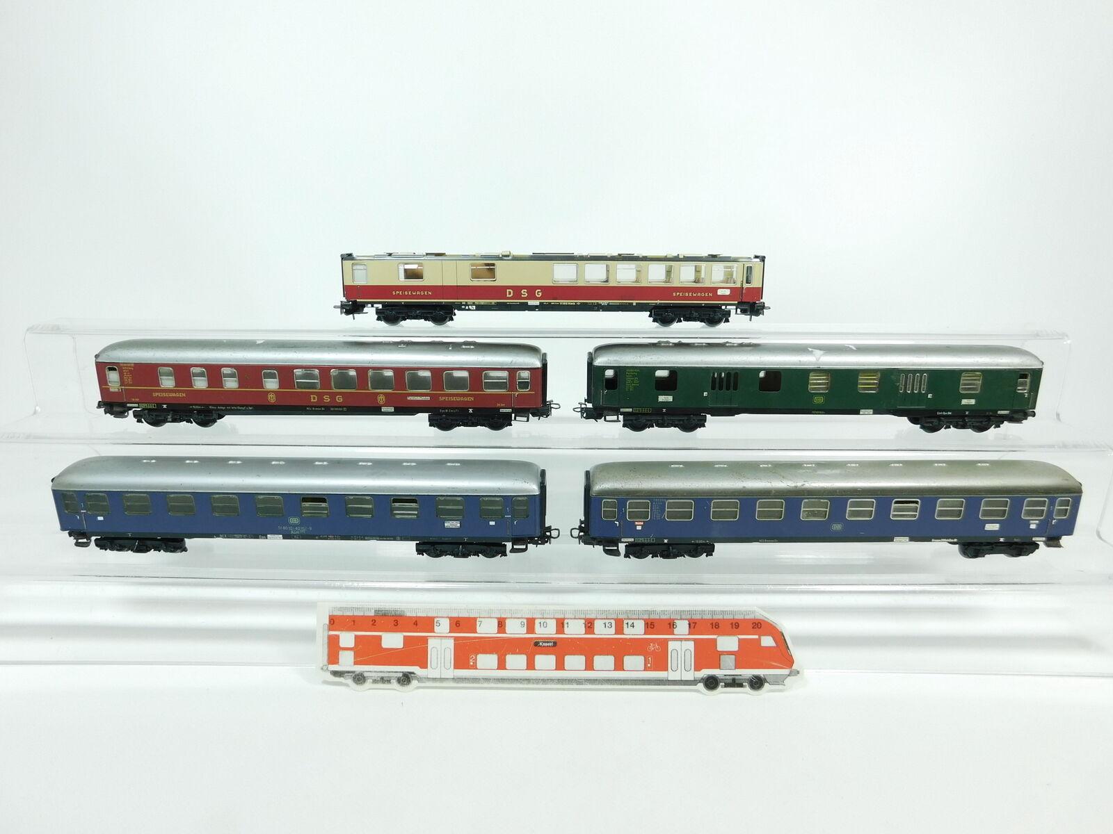 BC940-2 x Märklin H0 Hobbyist Tin - Cars etc.   36 201 DSG + A4üm DB Etc.