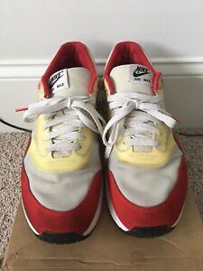 1f0ea9791cc4 Nike Air Maxim 1+ - White Sport Red-Neutral Grey - Sz. 11.5