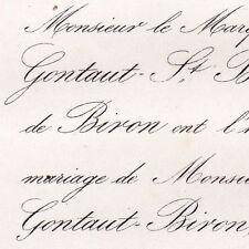 Armand De Gontaut-Biron 1864 Désirée De Clérembault