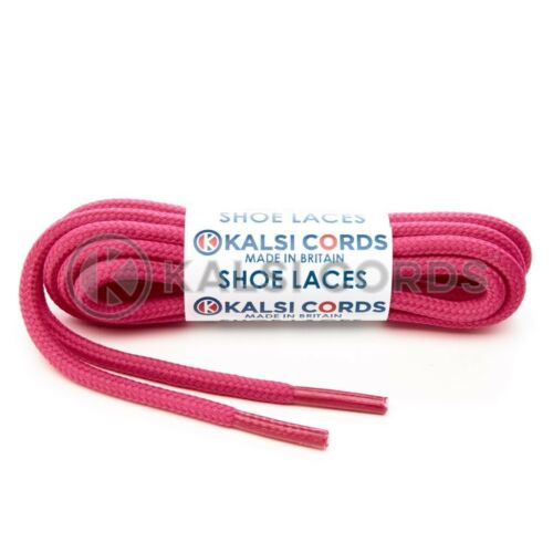 ROUND CORD ROPE SHOE LACES STRONG PAIR FOR BOOT TRAINER SPORT HIKING 21 COLOURS