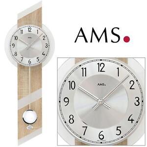 AMS-44-quarzo-dell-039-orologio-di-parete-con-pendente-sonoma-look-Orologio-a
