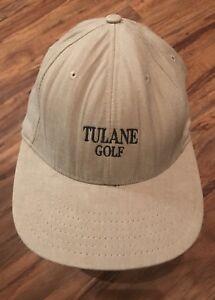 VTG TULANE UNIVERSITY GREEN WAVE GOLF S/M NEW ORLEANS BASEBALL CAP HAT USA MADE