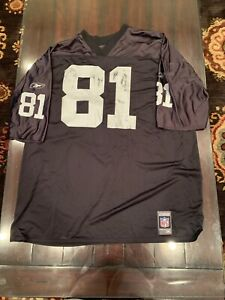Vintage-1997-Oakland-Raiders-T-Brown-81-Authentic-Replica-Jersey-Black-2XL