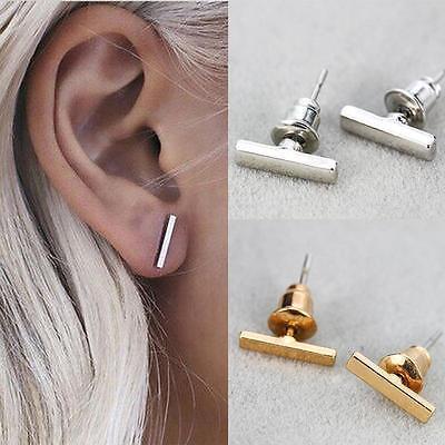 Punk Rock Cool Unisex Simple Tiny  Bar Fashionable Earrings Bar Ear Stud Pins
