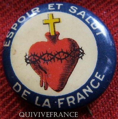 Rg391 - Insigne Sacre Coeur Espoir Et Salut De La France