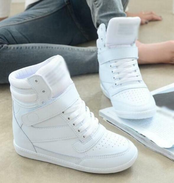 Women's Fashion Sneakers Ankle Boots Walking Casual Girls' High Top Wedge shoes