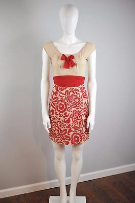 YOANA BARASCHI Sz 2 $188 Anthropologie Flowers & Thyme Dress Pickstitched [3G]