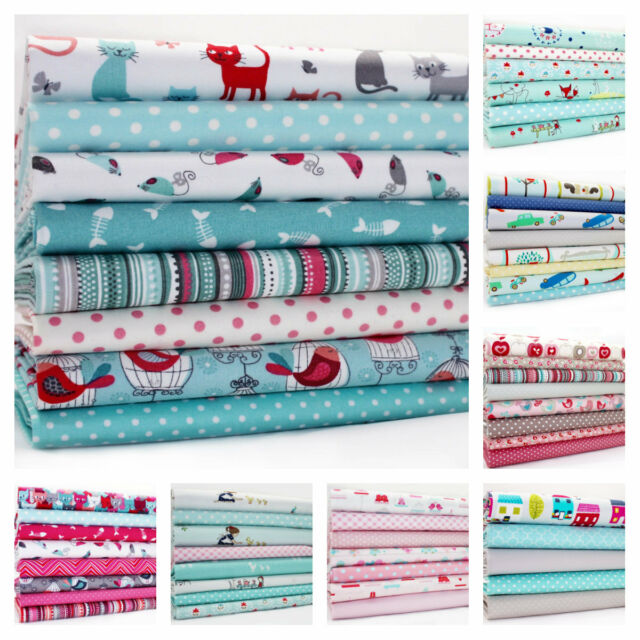 FQ BUNDLES - ALL NEW SUMMER DESIGNS  100% COTTON FABRIC  bundle remnants