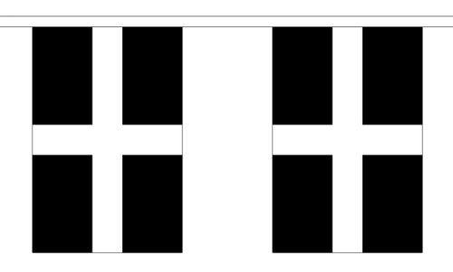 """Cornwall Bunting 3m mètre de longueur avec 10 drapeaux 9 /""""x6/"""" 100/% polyester tissé"""