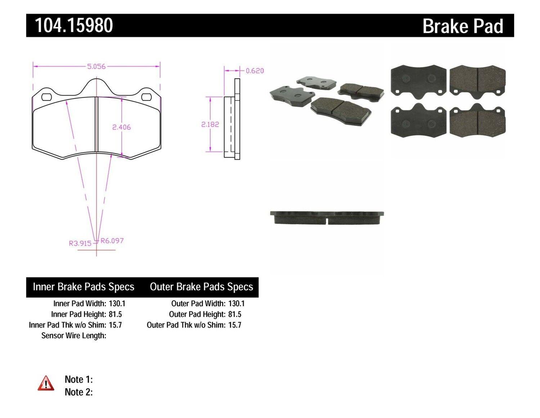 Binoculars Schematics Shim Not Lossing Wiring Diagram Gamecube Disc Brake Pad Set Front Centric 104 15980 Fits 10 14 Lotus Evora Ebay Rh Com Schematic Binocular