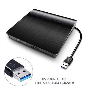 slim external usb 3 0 dvd rw cd drive writer burner reader player for laptop pc 759981722523 ebay. Black Bedroom Furniture Sets. Home Design Ideas