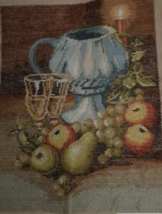 TRAMME TAPESTRY Fruit and Large Goblet Queen Adelaide No 265