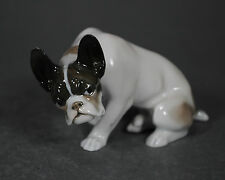 Rosenthal Diller französische french Bulldogge Hund dog Figur figure figurine