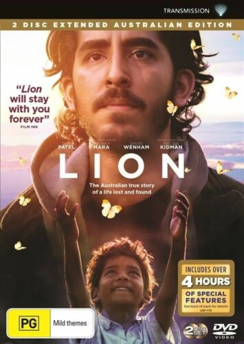 1 of 1 - Lion (DVD, 2017, 2-Disc Set), NEW SEALED REGION 4