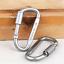 10Pcs Aluminum Screw Locking Carabiner Hook Keychain Camping Outdoor Using