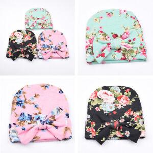 Bébé Naissance Nouveau-nés Fille Bonnet Chapeau Casquette Floral ... 11915efbc3e