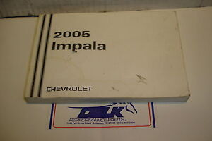 05 2005 chevy impala owners manual a users guide oem booklet ebay rh ebay com 2005 chevy impala repair manual chevrolet impala 2005 manual