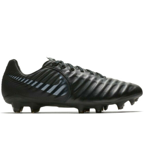 Nike Tiempo Legend 7 Pro FG TRIPLE ALL BLACK AH7241-001 Men Soccer Cleats Boots