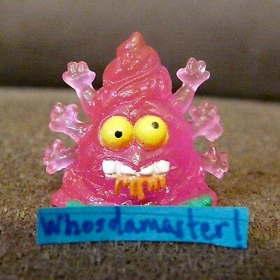 The Trash Pack Junk Germs Series 7 #1175 HOOK WORM Pink Mint OOP