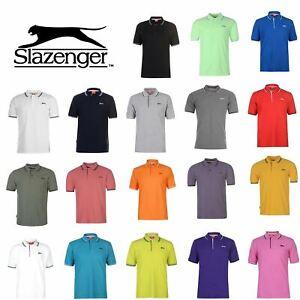 Slazenger-Polo-Camisa-de-hombre-con-cuello-con-Punta-T-Shirt-Top-Camiseta-Tee