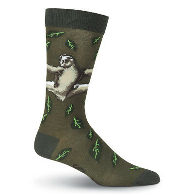 c625f43cd9 Sloth K Bell Dress Crew Socks Green Heather New Men Size 10-13 Live Slow  Fashion 780512324237 | eBay