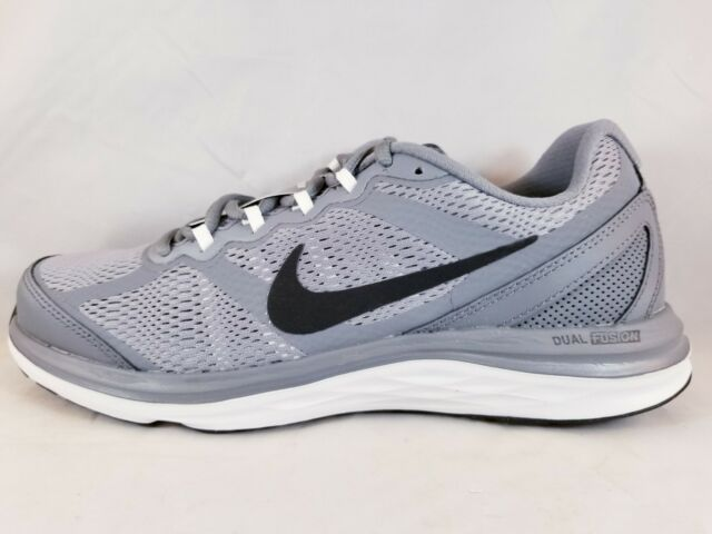 23c385ea416 Nike Dual Fusion Run 3 SNEAKERS Cool Grey Black White 653596 021 7.5 ...