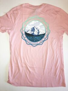 Columbia New PFG Fishing Gear Boat Short Sleeve T-Shirt Men/'s Medium Blue