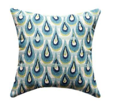 Aqua, Teal, Citrine Decorative Throw Pillow, Premier Prints Chloe Birch Frost