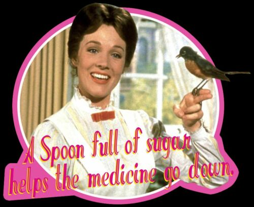 "60/'s Disney Classic Mary Poppins /""A Spoon Full of Sugar/"" custom tee Any Size"