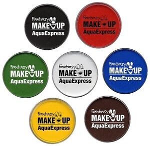 Aqua-Express-Make-Up-15g-11-Farben-zur-Wahl-Schminke-Fasching-Karneval-MakeUp