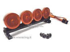 BARRA LUMINOSA 4 LED ARANCIONI IN METALLO ATT. FUTABA VRX T983Y X 1-8 1-10 1-16
