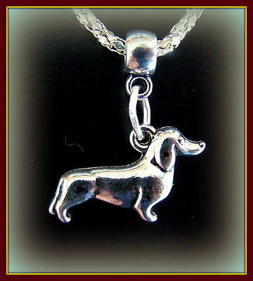 3-D Dachshund Dog Jewelry Necklace PENDANT - DOXIE Weiner Pup Sausage Puppy