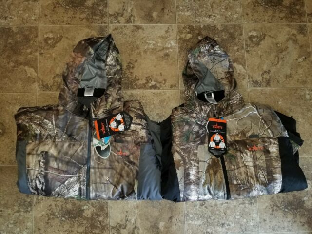 Nwt Mens Habit 3 in 1 All Weather Parka RealTree Water Wind Proof Black Gray