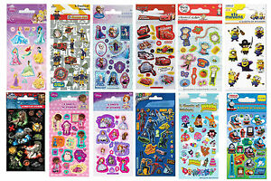 Childrens-Character-Fun-Stickers-6-Sheets-Party-Pack-Loot-Bag-Fillers
