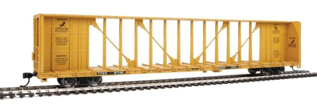 Walthers HO Scale 72' Centerbeam Flatcar/Standard Beam Trailer-Train/TTX #87146