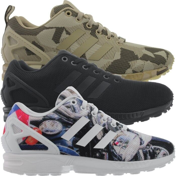 Adidas ZX Flux men's sneakers bluee black brown running casual shoes NEW