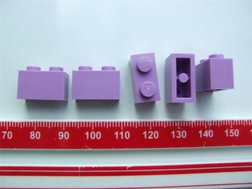 size 1x2 Parts – 4623598 5 x Lego Medium Lavender rectangular bricks